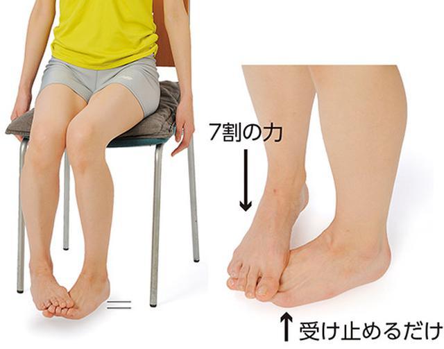 画像: 足の裏と甲のケンカ (ひざを上げる筋肉を鍛える)