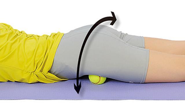 画像2: テニスボール指圧のやり方
