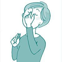 画像: 緑内障の全てが分かる一問一答 Q. 目薬の効果を最大限に得るさし方を教えてください。