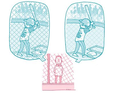 画像: 脳の補整処理機能が働いている見え方(右)と落ちている見え方(左)