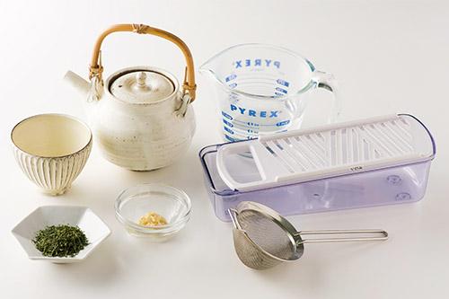 画像1: ショウガ緑茶の基本の作り方