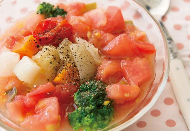 画像: 暑い季節でも美味しく食べられる トマトの冷製スープ