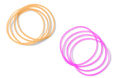 画像1: 耳輪ゴムのやり方