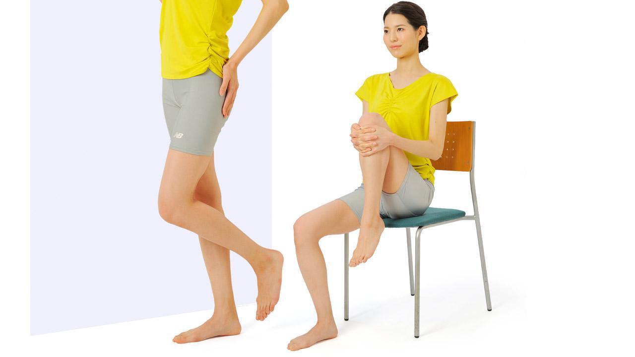 画像: 【股関節のストレッチ】可動域が広がり痛みも軽減 筋肉がかたい起床時に行うのがおすすめ - かぽれ