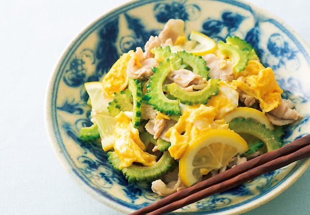 画像: ゴーヤ × レモン de 「ゴーヤと豚肉の塩レモン炒め」
