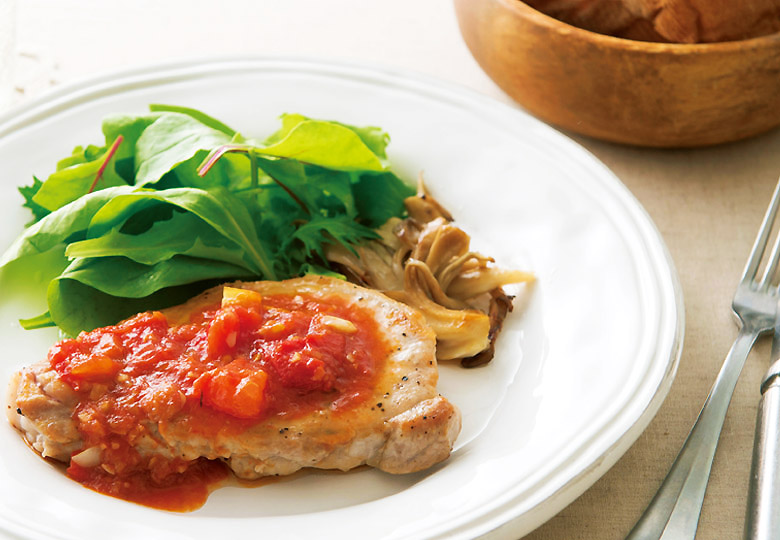画像: 梅干し × トマト de 「豚のソテー 梅トマトソース」