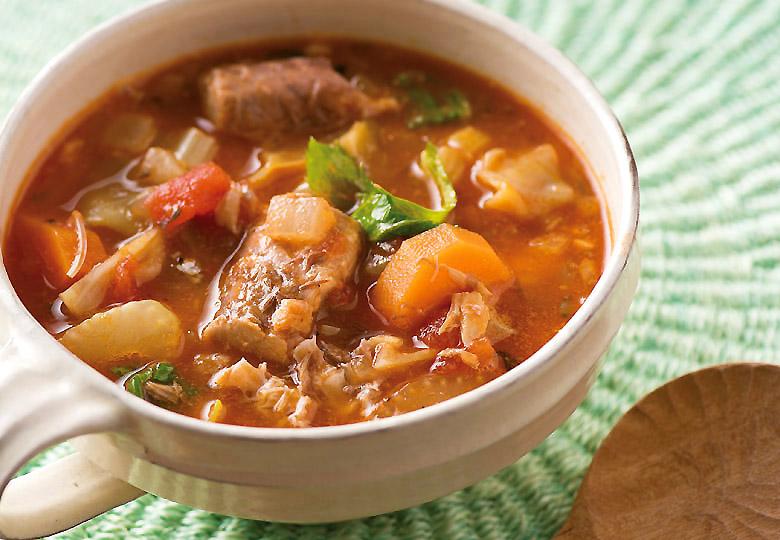 画像2: ビタミンCが豊富な野菜もたっぷりとれるごちそうスープ サバ缶のミネストローネ