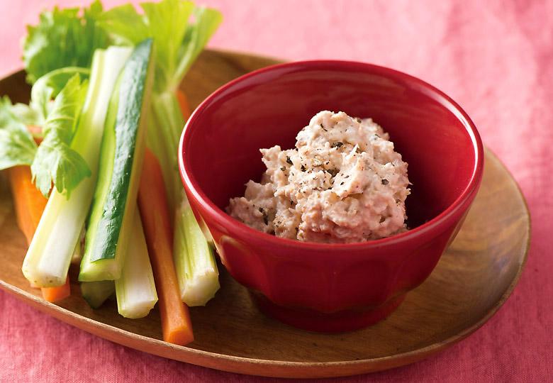 画像2: 野菜がもりもり食べられる! サケ缶のマヨディップ
