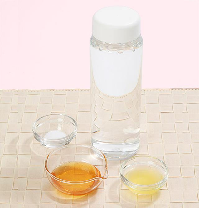 画像: 前田さんの「はちみつ水」の作り方