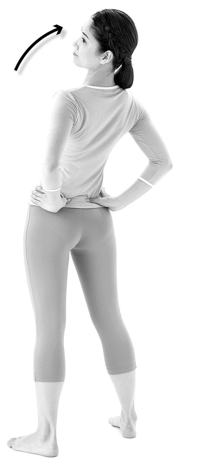 画像: 腰を反らすときに肛門を締める