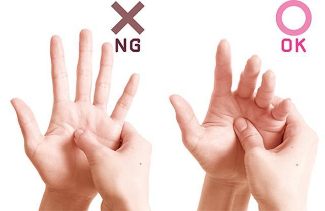 画像2: ① 親指の先プッシュ