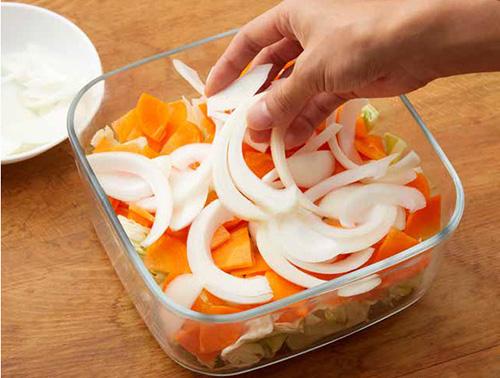画像: ここではキャベツとニンジン、タマネギを漬けています www.amazon.co.jp