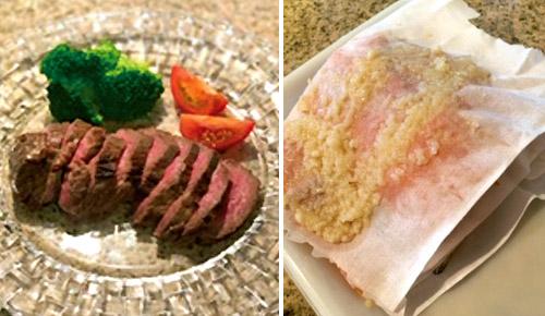 画像: とろけるように軟らかな塩麹ローストビーフ。サラシをかぶせて塩麹に漬けるのが、焼いたときに焦げつきにくくするコツ!※画像は川村ひかるさん提供
