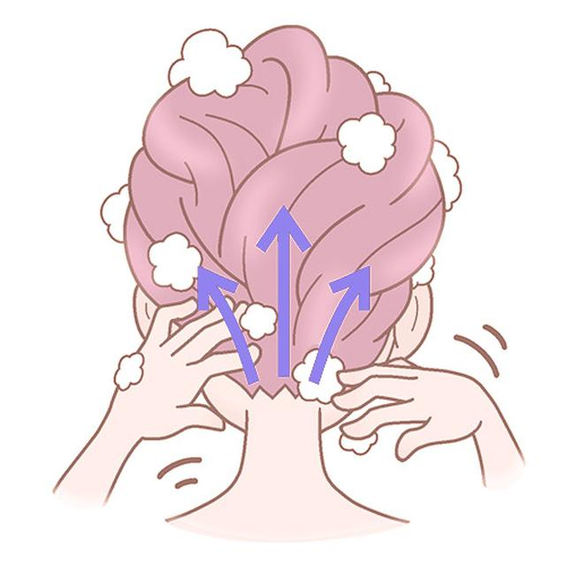 画像8: 頭皮のこすり洗いのやり方