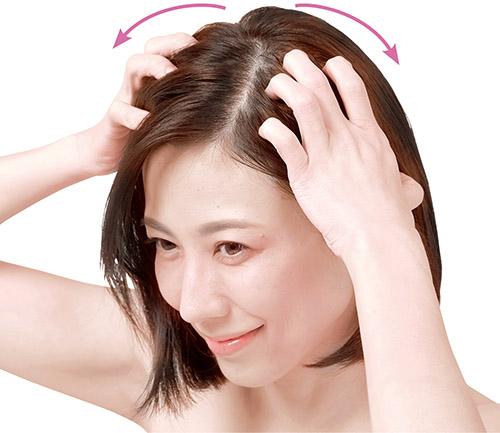 画像3: 頭皮のこすり洗いのやり方