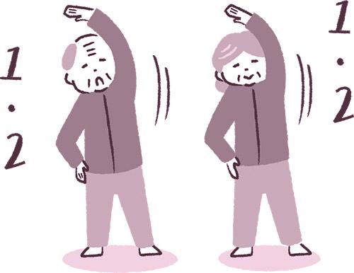 画像: 高齢者はフレイルを避けるため、運動を!