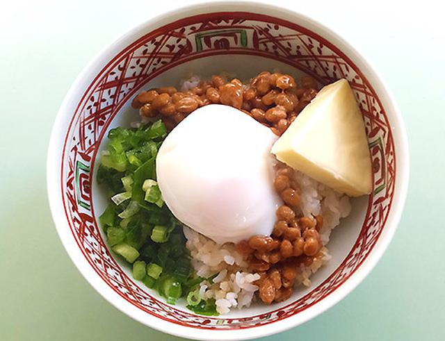 画像: 村上先生が毎朝食べる「チーズ納豆」丼