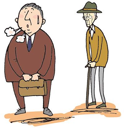 画像: 中年期までは太り過ぎ、高齢者はやせ過ぎに注意