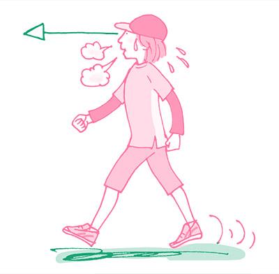 画像: 目線や姿勢を意識しながら歩くのがコツ。4