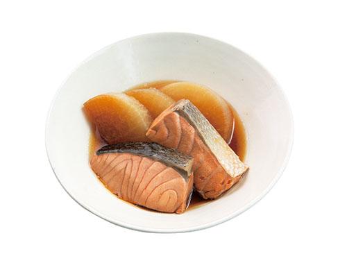 画像: ゆで大根×ゆで鮭