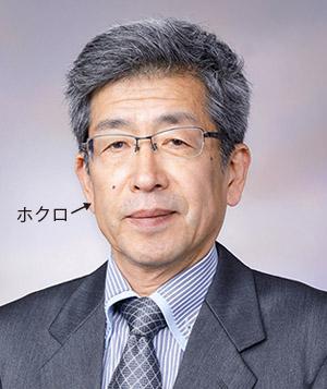 画像: 写真は18年10月、プロフィール欄の写真は20年9月に撮影。小柳津先生の右ほおのホクロが消失