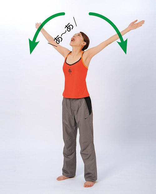 画像3: あくび体操のやり方
