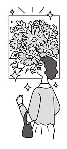 画像: イラスト/cycledesign 花や植物の画像があるだけで心が安らぐ