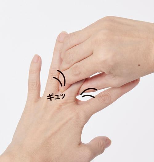 画像1: 【指を1本ずつしごく方法】