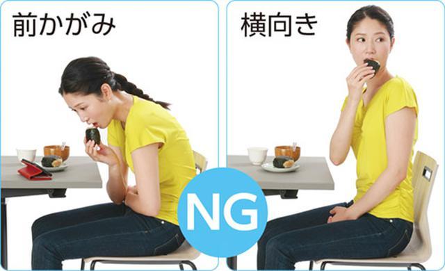 画像2: 誤嚥やのどの詰まりを防ぐ食事の姿勢