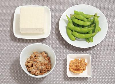 画像: さまざまな大豆食品をとるのがお勧め