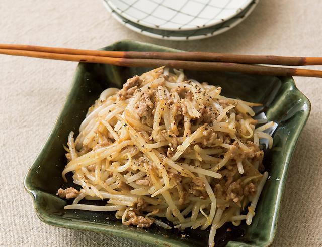 画像: モヤシとひき肉のコクうま炒め