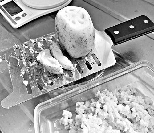 画像1: レンコンのおろし汁の作り方