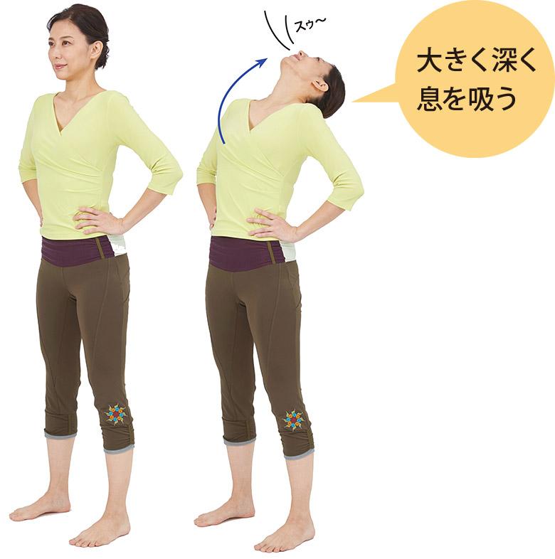 画像: 腰上反らし体操