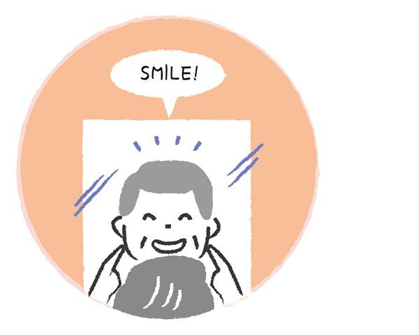 画像: え 笑顔を忘れずに
