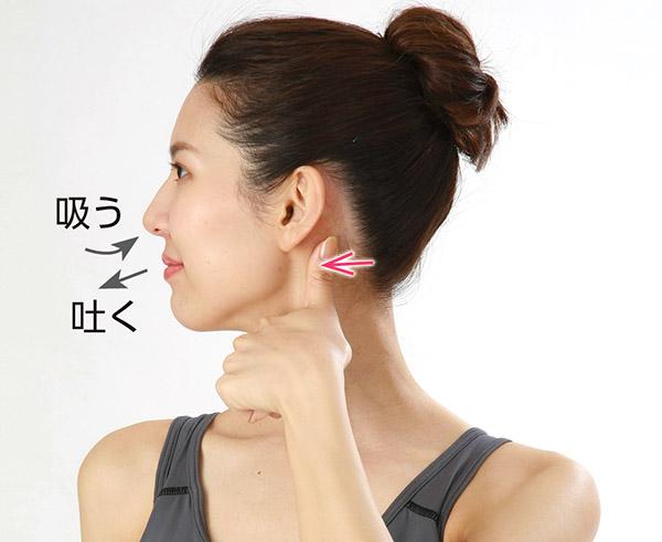画像1: 首のV字筋もみのやり方