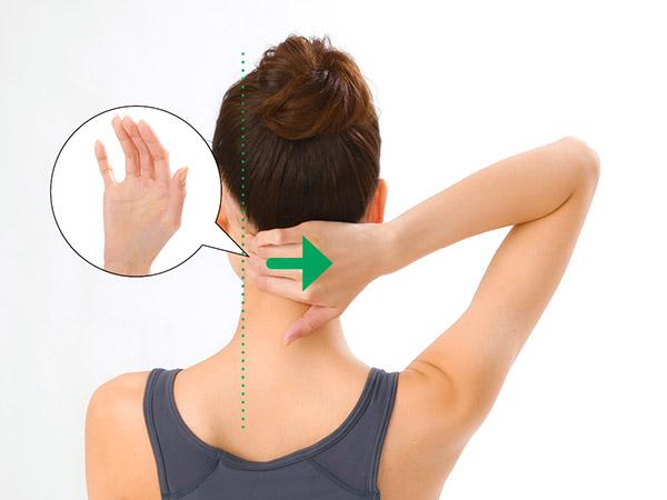 画像1: 首引っ張りのやり方