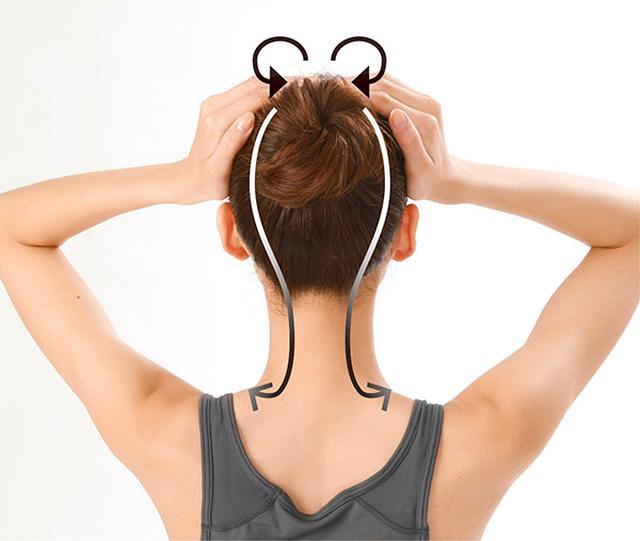 画像15: 首のリンパ流しのやり方