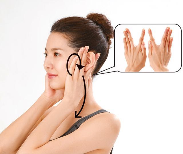画像6: 首のリンパ流しのやり方