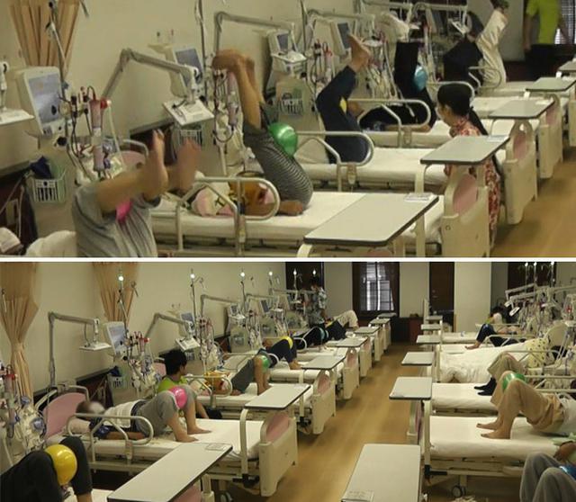 画像: 血液透析中に運動療法を実践!