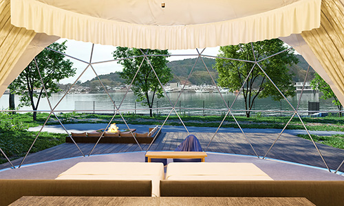 画像: ①熊本初! ドーム型テントの採用