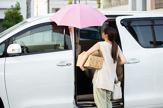 画像: 両手が空くので荷物の運び込みも楽々。