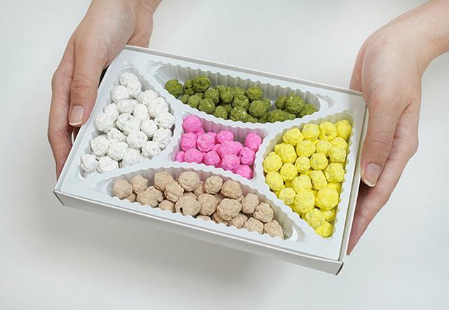 画像: 京都の伝統的なお菓子「五色豆」。