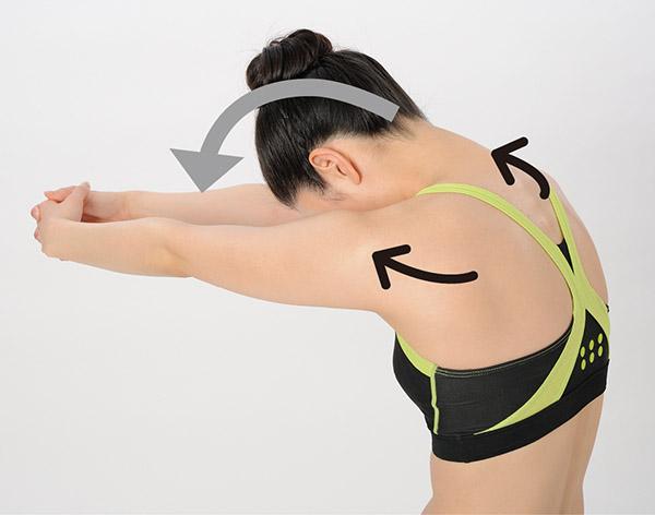 画像2: 奥井先生の尿もれ解消筋トレ 1. 肩甲骨周り筋トレ