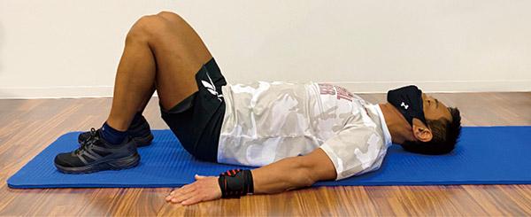 画像1: 吉原先生の体幹筋トレ 2. ヒップリフト