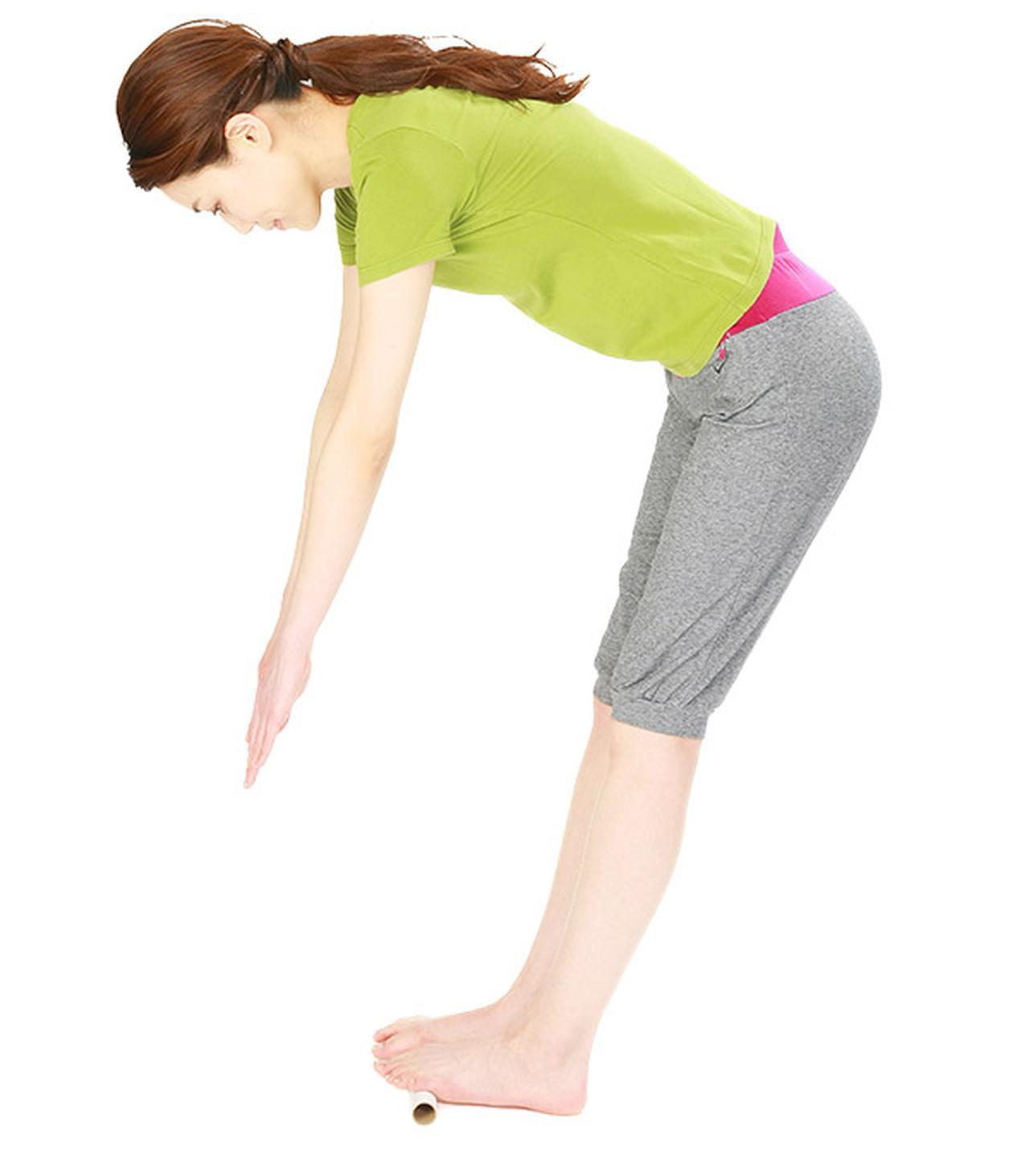 画像3: 筒踏み前屈のやり方