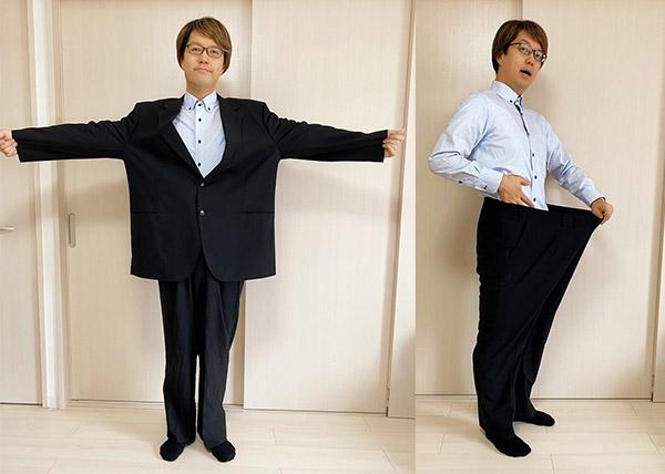 画像: 以前のスーツはもう一人入りそうなサイズ感!