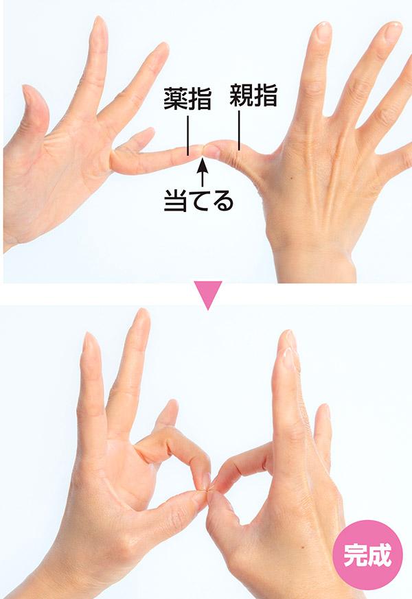 画像: ・柔軟性を向上させたい場合は毎日行う ・化粧水の肌なじみをよくしたい場合は、手に化粧水をとってからこのポーズをとり、その後肌に塗ると効果的