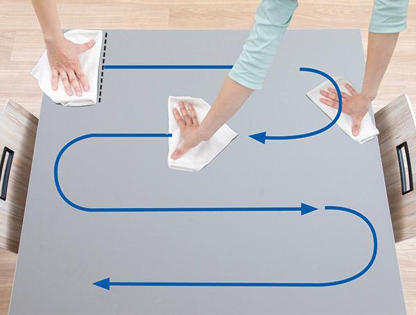 画像2: 一方向に乾拭きが大原則!往復拭き・水拭きはNG