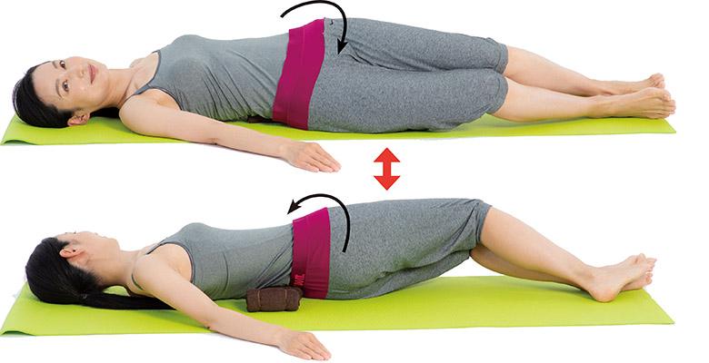 画像3: 2. 背中に腎枕を当てて寝る