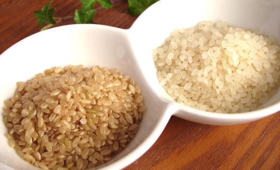 画像: 白米よりも玄米や胚芽米がお勧め
